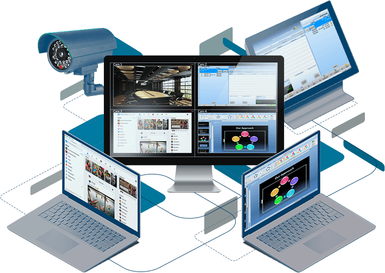 DeskCamera records a computer screen and webcam to VMS via ONVIF
